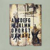 Het goedkope Aangepaste Hand Geschilderde Houten Schilderen van de Kunst van de Muur van het Canvas