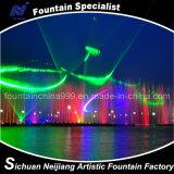 Grande fontana di acqua del laser 3D in lago