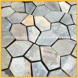 Ardoise jaune/rouillée/blanche/noire normale de quartzite de panneau de mur de placage de pierre de toiture pour le revêtement de mur