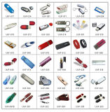 Movimentação pequena do flash do USB da caixa da roupa dos presentes por atacado