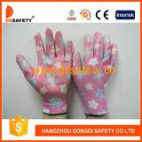 13 gants en nylon Dnn355 de travail de jardin d'enduit de nitriles d'interpréteur de commandes interactif de polyester de mesure