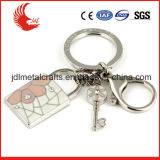 Hot Sale New Design Fashion Custom Leather Metal Keychain com caixa