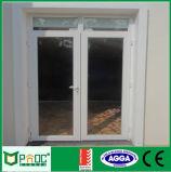 Двойная дверь Casement отверстия качания с Tempered застекляя Pnoc0027cmd