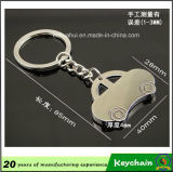 Forma Keychain do carro de metal
