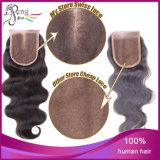 Cabelo humano do fechamento do cabelo da onda do corpo do cabelo humano