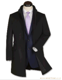 Зима Top-Quality людей прокладывая пальто шерстяного способа длиннее