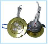 le Module du trou 70mm DEL de la coupure 3*1W s'allument vers le bas dans le bureau/chambre à coucher/mémoire de bijou