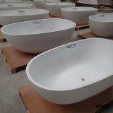 Vasca da bagno diritta libera della stanza da bagno della pietra di lusso moderna della resina di Sanitaryware