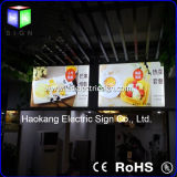 LED Open Sign를 가진 잘 고정된 Slim Fabric Framless LED Light Box
