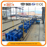 Cemento Tecnología patentada de pared Panel de maquinaria y de peso ligero de la pared de partición Sandwich Línea de producción con una capacidad anual de 50000m2 a 500, 000m2