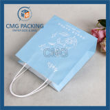 Bolso blanco de la maneta del papel de Kraft (DM-GPBB-047)