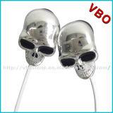 El auricular fresco del cráneo, cráneo Earbuds, embroma el auricular de la historieta