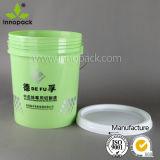 صنع وفقا لطلب الزّبون طباعة 20 [ليتر] دلو بلاستيكيّة مع مقبض وبرغي تغذية