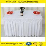 100%年のポリエステル明白で白い結婚式の円形のテーブルクロスのテーブル掛け