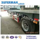 50t 13m 3 Semi Aanhangwagen Lowloader van de Lading Lowbed/Lowdeck van de As