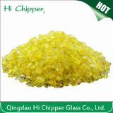 Il vetro giallo schiacciato sabbia di vetro di Lanscaping scheggia il vetro decorativo