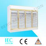 4 Glas-Tür-aufrechter Kühler für Getränke