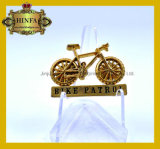 Fahrrad-Patrouillen-Namensabzeichen-GoldreversPin (JINJU16-015)