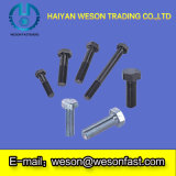 Carbonio Steel Hex Bolts con Full Thread DIN933-8.8 Zinc Plated