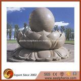 Pedra natural do mármore/granito que cinzela a música da água/a fonte estátua da esfera para o jardim/parede/o ao ar livre