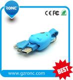 3 en 1 câble de caractéristiques de la forme USB de Tau pour le téléphone mobile