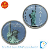 OEM Custom policy/Challange/souvenir/Memorial printed Liberty Coin