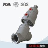 Acero inoxidable Pplastic ángulo neumática asiento de la válvula de control (JN-STV1002)