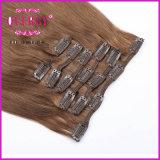 O Virgin o mais fino de Remy do ser humano da classe 8A 100% da forma da qualidade superior todo o cabelo do grampo da cutícula