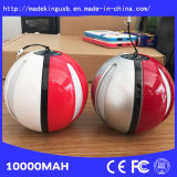 2016 New Design 10000mAh Pokemon Go Power Bank Pokeball