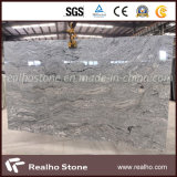 Visconte White Polished Granite Slab dell'India per la pavimentazione