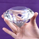 Presente de cristal do Paperweight do diamante para a decoração do casamento do dia do Valentim