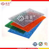 Feuille solide texturisée gravée en relief de PC des prix de feuille de feuille de toiture de polycarbonate