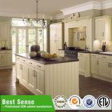 Gabinete de cozinha lustroso elevado do estilo europeu redondo moderno dos gabinetes de cozinha