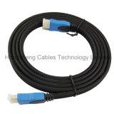 Cable Double- plano De oro-Plateado 1.4V 2.0V del color de HDMI