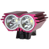 2000lumens Rechargeable LED Bike Headlamp met Battery