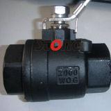 Válvula de bola de acero inoxidable de 2 piezas con almohadilla de montaje