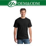 Camiseta redonda del cuello de la manga corta llana