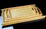 Esteira de bambu cheia da bandeja de chá de 2016 páletes de madeira com biauricular