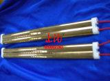 El calor de la lámpara del reflector de oro de cuarzo doble tubo