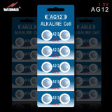 AG12 Lr43 alkalische Tasten-Zellen-Batterie