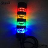 IP67 LEDのシグナルタワーライトを回転させる4つのスタック