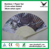 OEM Ontwerp dat Aangepaste de Ventilator vouwt van de Hand van het Bamboe