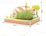 Establecimiento Modelo-Dimensional del edificio de papel del rompecabezas DIY