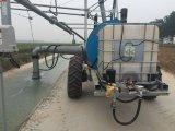 Macchina laterale dell'impianto di irrigazione di movimento delle quattro rotelle