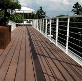 Placa plástica de madeira ao ar livre padrão de Europa com o baixo 135*25mm custado