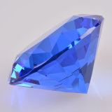 Crystal bleu Glass Diamond pour Paperweight Table Home Decoration