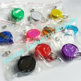 32mm Clear Colored Retractable ID Clip Badge Reel