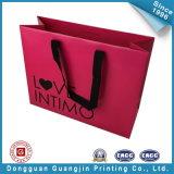 Papel rosado encantador cesta de la compra de regalos Embalaje Bolsita (GJ-Bag514)