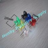 Pin trasparente di spinta di colore di figura di plastica della maniglia di 26mm