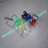 26mm Plastikgriff-Form-transparenter Farben-StoßPin